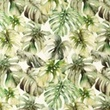 [S1082L-183138] [S1082L] Double Gauze Crinkled Digital Printed Mix 17 (Leaves)