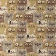 [S1093R-183440] [S1093R] Poplin Printed Cats (Pebble)