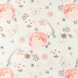 [S1101R-183097] [S1101R] Poplin Digital Printed Mix 35 (Wild Flower)