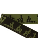 [672R-184276] [672R] Elastic With Woven Kamasutra 40 mm (Army)