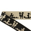 [672L-184278] [672L] Elastic With Woven Kamasutra 40 mm (Pebble)