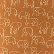 [S1156R-183483] [S1156R] Poplin Printed Elephants Line Art Snoozy (Brick)