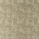 [S1156R-183481] [S1156R] Poplin Printed Elephants Line Art Snoozy (Pebble)