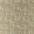 [S1156L-183481] [S1156L] Poplin Printed Elephants Line Art Snoozy (Pebble)