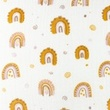 [S1174L-183869] [S1174L] Double Gauze Crinkled Printed Rainbow Love (Ochre)