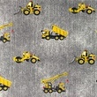 [S1179R-184763] [S1179R] Jersey Printed Jeans Construction Vehicles (Grey)