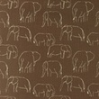 [S1181R-184780] [S1181R] Jersey Printed Elephants Line Art Snoozy (Choco)