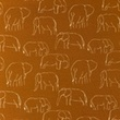 [S1181R-184777] [S1181R] Jersey Printed Elephants Line Art Snoozy (Brick)