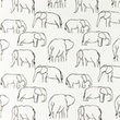 [S1181R-184782] [S1181R] Jersey Printed Elephants Line Art Snoozy (White)