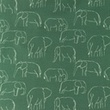 [S1181R-184778] [S1181R] Jersey Printed Elephants Line Art Snoozy (Dark Old Green)
