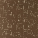 [S1181L-184780] [S1181L] Jersey Printed Elephants Line Art Snoozy (Choco)
