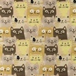 [S1185R-184807] [S1185R] Jersey Printed Cats (Pebble)