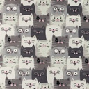 [S1185L-184809] [S1185L] Jersey Printed Cats (Grey)