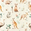 [S1205R-184919] [S1205R] Jersey Digital Printed Mix Hera Snoozy (Animals)