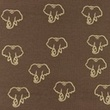 [S1209R-184968] [S1209R] Jersey Printed Snoozy Elephant (Choco)