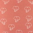 [S1209R-184970] [S1209R] Jersey Printed Snoozy Elephant (Dark Old Pink)