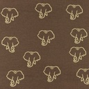 [S1209L-184968] [S1209L] Jersey Printed Snoozy Elephant (Choco)