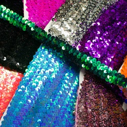 [066R] Stretchable Sequin Trim 20 mm