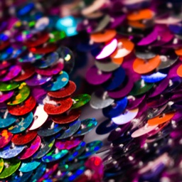 [095R] Stretchable Sequin Trim 30 mm