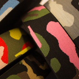 [325R] Elastic With Woven Army Print
