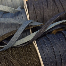 [351R] Flat Cord Denim 10 mm