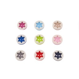 [K017R] Button With 3D Star