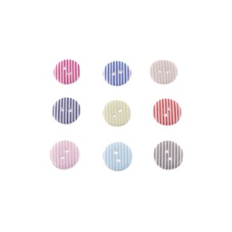 [K022R] Button With Stripe
