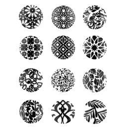 [K026R-30572] [K026R] Button With Ornament