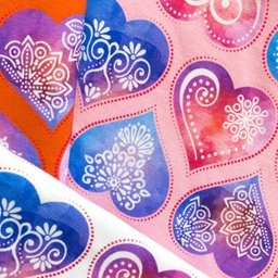 [S383R] Digital Printing Ornament Hearts
