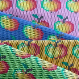 [S518R] Jersey Printed Knitted Apple