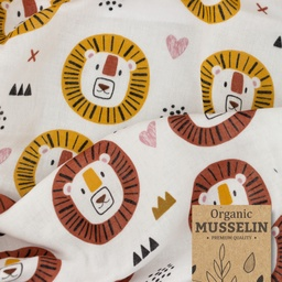 [S909R] Double Gauze Cotton Big Lion