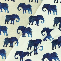 [S985R] Jersey Digital Printed Elephant