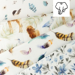 [S1065R] Double Gauze Cotton Digital Printed Mix 4 Snoozy