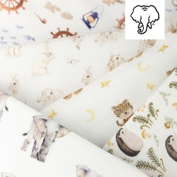 [S1067R] Double Gauze Cotton Digital Printed Mix 6 Snoozy