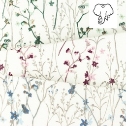 [S1138R] Double Gauze Flat Printed Mille Fleurs Snoozy